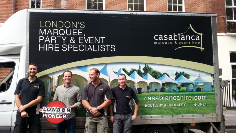 Casablanca Hire Become Dot London Pioneers with Easyspace (Photo: Business Wire)