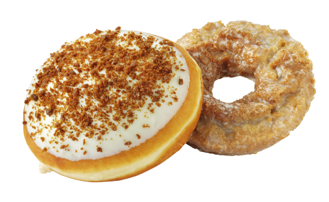 The deliciously craveable flavors of fall have returned to Krispy Kreme(R) Doughnuts. Pumpkin Spice Cake and the Pumpkin Cheesecake doughnuts are available now through November 27, 2014 at participating Krispy Kreme(R) US and Canadian locations.(Photo: Business Wire)