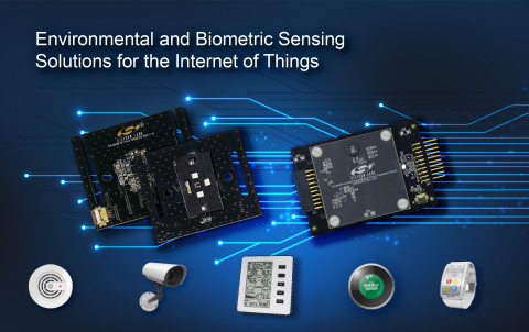 Environmental and Biometric Sensing Solutions for the Internet of Things (Graphic: Business Wire)