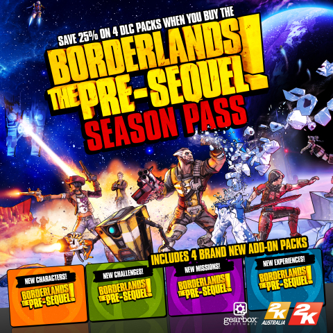 2K and Gearbox Software announced today that Borderlands(R): The Pre-Sequel(TM) will offer four add- ...