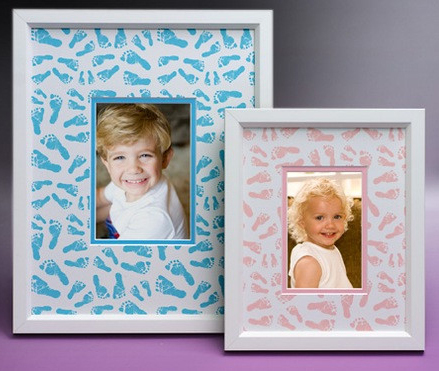 Unique mat boards are on the rise as consumers increasingly customize solutions to display their work. Here is an example of one using images of their newborn's feet right off the birth certificate. (Photo: Business Wire)