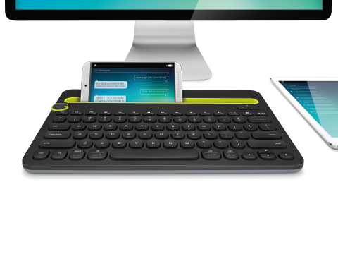 The Logitech(R) Bluetooth(R) Multi-Device Keyboard K480 is a desk keyboard that works with your comp ...