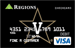 This new Vanderbilt design joins the suite of other collegiate CheckCard options that Regions offers ...
