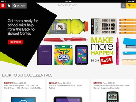 Staples has announced the first iPad app in the company's history. The app provides an easy-to-use t