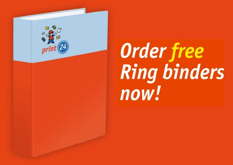 Print ring binders online - print24 is expanding its portfolio of customized business stationery (Graphic: Business Wire)