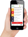 The Senior Lifestyle System App with notifications on iPhone - children and their elderly parents are automatically sharing lifestyle information, enabling seniors to feel safe and live longer at home independently, while their children feel secure that their parents are well. (Photo:Business Wire)
