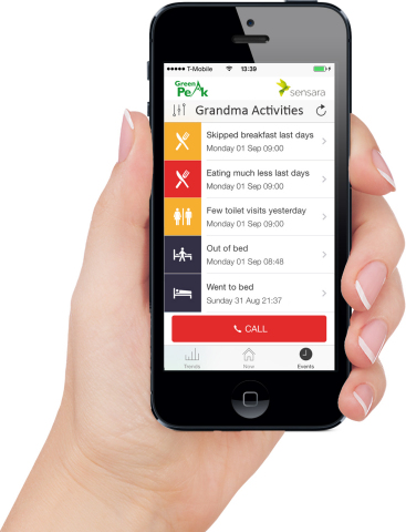 The Senior Lifestyle System App with notifications on iPhone - children and their elderly parents ar ...
