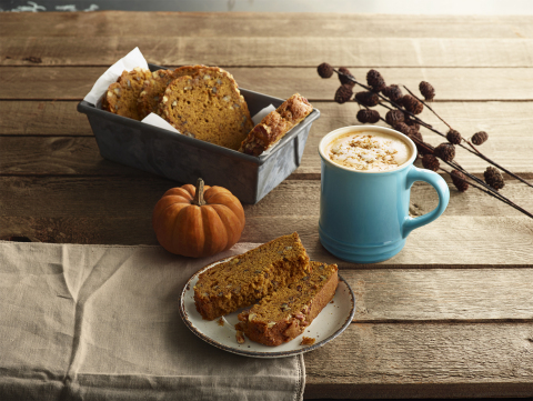 The Pumpkin Ginger Latte is the newest addition to Caribou Coffee's handcrafted fall beverage lineup, all made with a specially crafted pumpkin puree sauce. The new latte pops with ginger spice and is topped with crumbled gingersnap cookie. (Photo: Caribou Coffee)