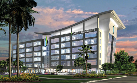 Laser Spine Institute's planned 176,000 square foot headquarters and ambulatory surgery center in Avion Park, in Tampa's Westshore district. (Photo: Business Wire)
