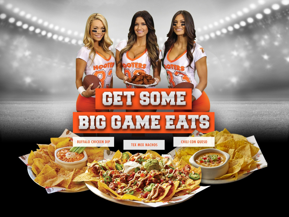Hooters Big Game Eats limited time menu. (Photo: Business Wire)