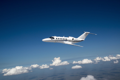 The Citation CJ3+, with seating for up to nine people, is certified for single pilot operation, feat ...