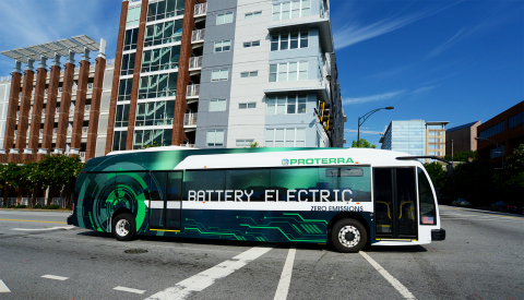 By offering a quiet, fuel-efficient and environmentally friendly EV bus to the market today, Proterra has helped cities across the United States reduce their carbon footprints and improve the quality of life for residents. (Photo: Business Wire)