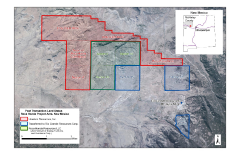 Appendix 2: Map of Roca Honda Properties in West-Central New Mexico (Graphic: Business Wire)
