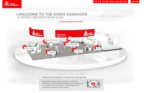 Avery Dennison's virtual trade show booth will give online visitors around the world access to the company's annual showcase of labeling innovations. (Photo: Business Wire)