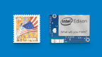 It was announced today at the Intel Developer Forum (IDF) that Intel Edison, only slightly larger than a postage stamp, is now available to pro makers and entrepreneurs to power small and worn devices. (Photo: Business Wire)