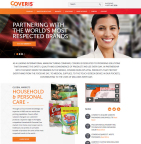 New coveris.com Home Page (Graphic: Business Wire)