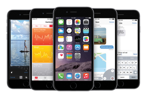 iOS 8, the biggest release since the launch of the App Store, will be available starting Wednesday, September 17 to iPhone, iPad and iPod touch users as a free software update. (Photo: Business Wire)