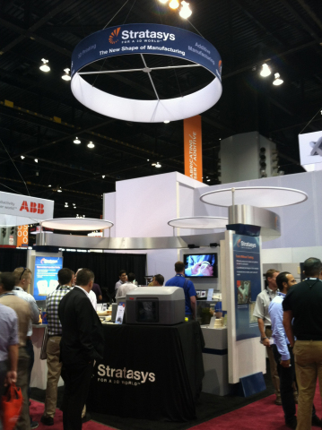 Stratasys is showing additive manufacturing innovations this week at the IMTS show in Chicago at Boo ...
