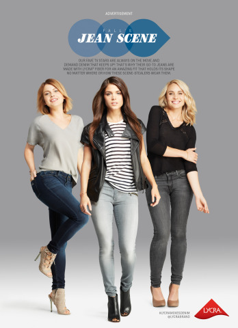 "Cover image of the LYCRA(R) brand's ""Jean Scene"" insert in the October edition of Cosmopolitan. (Photo: Business Wire)"