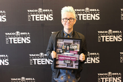 Taco Bell(R) Foundation for Teens(TM) and YouTube Star Tyler Oakley Search for Next Student to Fill Coveted Teen Scholar Role (Photo: Business Wire)