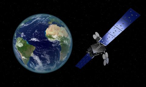 Satelita GEOStar-3 na orbicie - wizja artystyczna / Credit: Orbital Science Corp.