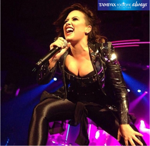 Demi Lovato kicked off her world tour in Baltimore, MD., on Sept. 6, sponsored by The Radiant Collection from Tampax and Always. (Photo: Business Wire)