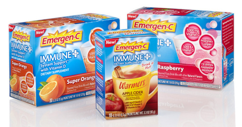 Super-charged Emergen-C Immune+(R) dietary supplement provides immune support with key nutrients and a unique proprietary complex that features Wellmune WGP(R). (Photo: Business Wire)
