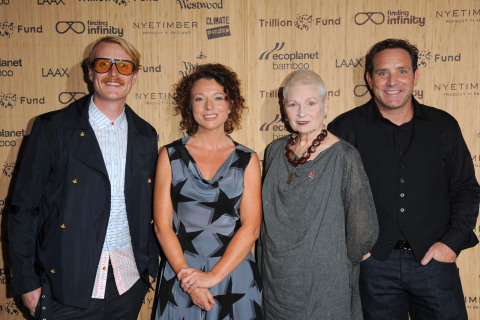 Ross Harding, Julia Groves, Dame Vivienne Westwood, Troy Wiseman, CEO EcoPlanet Bamboo (Photo: Business Wire)
