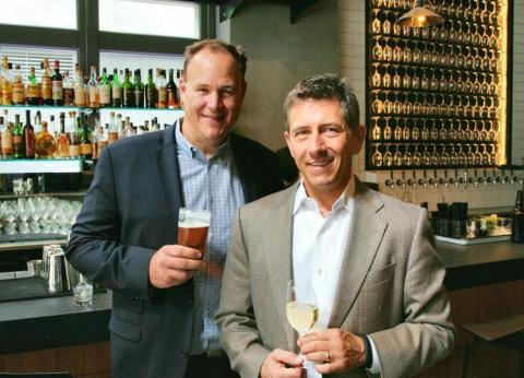 Thomas Vogele (right), formerly of Michael Mondavi's FOLIO Fine Wine Partners, and marketing/advertising veteran Steve Reed (left) announced today the launch of DrinkSpace, a new Washington-based agency for boutique alcohol beverage producers. The new company will provide much needed sales and marketing expertise to producers on a regional and national level, helping them navigate the myriad hurdles small wineries, breweries, cideries and distilleries encounter in the U.S. alcohol beverage industry. (Photo: Business Wire)