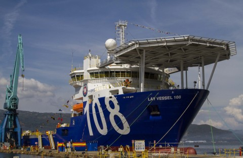 The McDermott CSV108 is expected to join the fleet in 2015, once the final deck equipment has been installed. (Photo: Business Wire)