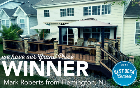 Mark Roberts' deck was selected as the Grand Prize winner in this year's Deckorators Best Deck Contest. (Graphic: Business Wire)