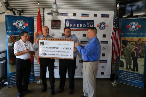 Brick House Tavern + Tap's nine-week campaign raised $136,230 for Operation Homefront. (Photo: Busin