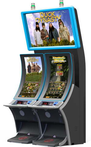 The A&E(R) Duck Dynasty(TM) branded slot game by Bally Technologies in conjunction with G2 Game Design will have players hunting for more with a wheel feature packed with six different bonuses inspired by the most-watched reality cable TV show in history. (Photo: Business Wire)