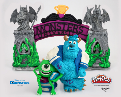 Mike and Sulley are off to a different kind of Monsters University - made entirely out of PLAY-DOH compound! In celebration of National PLAY-DOH Day on September 16, 2014, Hasbro Inc. and the PLAY-DOH brand are getting into the back-to-school spirit by sculpting schools and students made famous in pop culture! Be sure to visit the PLAY-DOH Facebook page to check out the other iconic school sculptures: https://www.facebook.com/playdoh (Photo: Business Wire)
