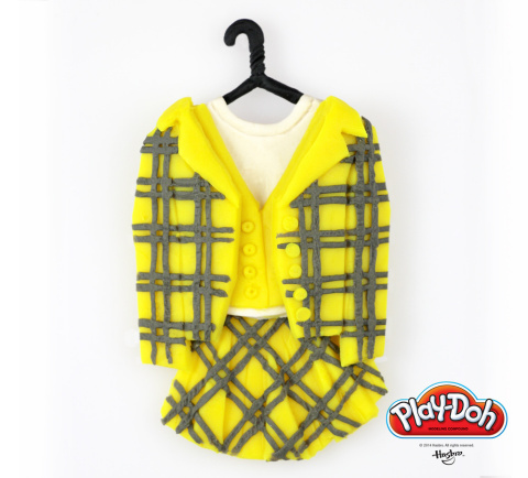 "Not sure what to wear for the first day of school? As if! Take a fashion cue from Cher Horowitz, whose iconic plaid suit looks 'like, totally awesome' in PLAY-DOH form! Hasbro Inc. and the PLAY-DOH brand sculpted a fashion favorite from the Beverly Hills high school classic ""Clueless"" in celebration of National PLAY-DOH Day on September 16, 2014. Visit the PLAY-DOH Facebook page to view the full collection of back-to-school themed PLAY-DOH sculpts, inspired by some of pop culture's most iconic schools: https://www.facebook.com/playdoh (Photo: Business Wire)"