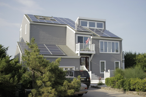 A home in Sea Girt, NJ equipped with solar panels from NRG Home Solar. The company today announced i