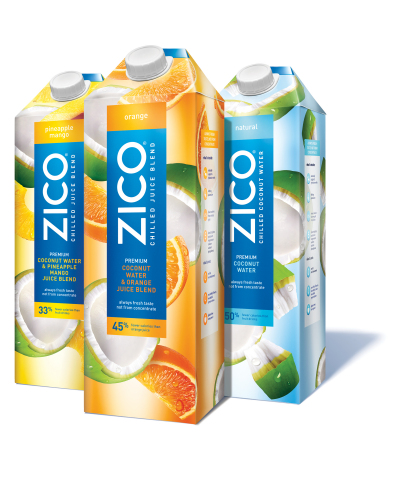 With five naturally-occurring electrolytes, ZICO Chilled Juices offer the hydration benefits of coconut water and the delicious taste of fresh juice—with up to 45 percent fewer calories than regular fruit drinks. (Photo: Business Wire)