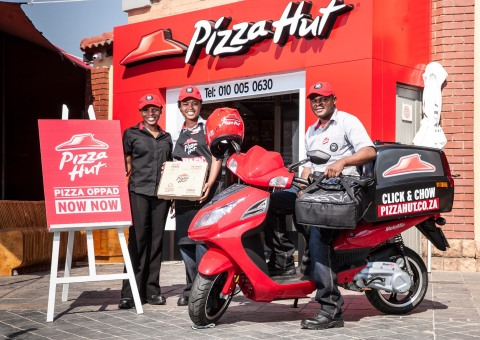 Pizza Hut, a division of Yum! Brands (NYSE: YUM), today announced the opening of its first restaurant in Africa. The introduction of Pizza Hut on the Continent reflects the Company's expansion in emerging markets. Pizza Hut is the world's largest pizza chain with $12 billion in global sales and more than 15,000 restaurants in 93 countries worldwide. (Photo: Business Wire)