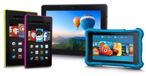 The new Fire tablet family (Photo: Business Wire)