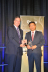 Lixin Cheng, chairman and CEO of ZTE USA receiving the
