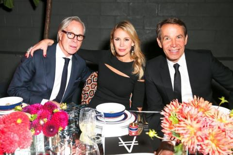 Tommy and Dee Hilfiger with Jeff Koons at the High Line Art Dinner. (PHOTO CREDIT: David X Prutting/