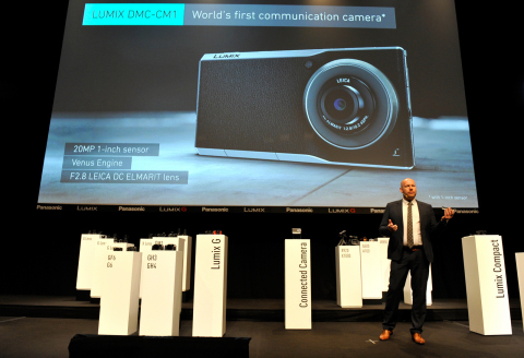 The World's Slimmest* Communication Camera LUMIX DMC-CM1 With 1-inch High sensitivity MOS Sensor and LEICA DC Lens for High Quality Photo Complying with Android(TM) v4.4 and High-Speed LTE (*As a digital camera with 1-inch sensor, as of 15 Sep, 2014) (Photo: Business Wire)