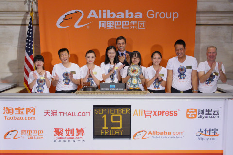 Alibaba customers ring The NYSE Opening Bell(R). (Photo: Business Wire)