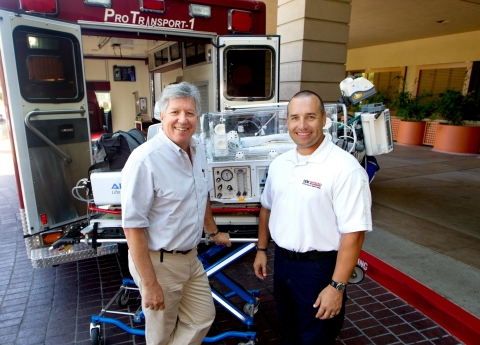 Neonatologist Ronald Cohen, MD, and Brandon Bond, director of our Office of Emergency Management, ha ...
