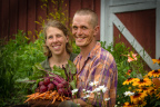 Erin Johnson and Ben Doherty of Open Hands Farm in Northfield, MN, finalists for Bon Appétit Management Company's Fork to Farm grant program (Photo: Business Wire)