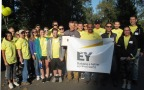 "Ernst & Young LLP's Portland, Oregon, team was all smiles at SOLVE Oregon last Friday on the firm's annual day of service. Portland Mayor Charlie Hales proclaimed September 19 ""EY Day"" in recognition of the firm's volunteer efforts. Holding the proclamation is Ernst & Young LLP Managing Partner Pete Doubleday. (Photo: Business Wire)"