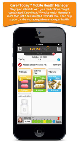 Care4Today™ Mobile Health Manager (Graphic: Business Wire)