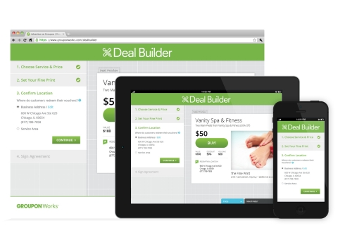 Deal Builder is a convenient, 24/7 self-service option for merchants to construct their own Groupon