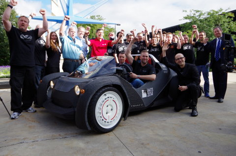 Meet the Strati, the world's first 3D-printed car. (Photo: Business Wire)