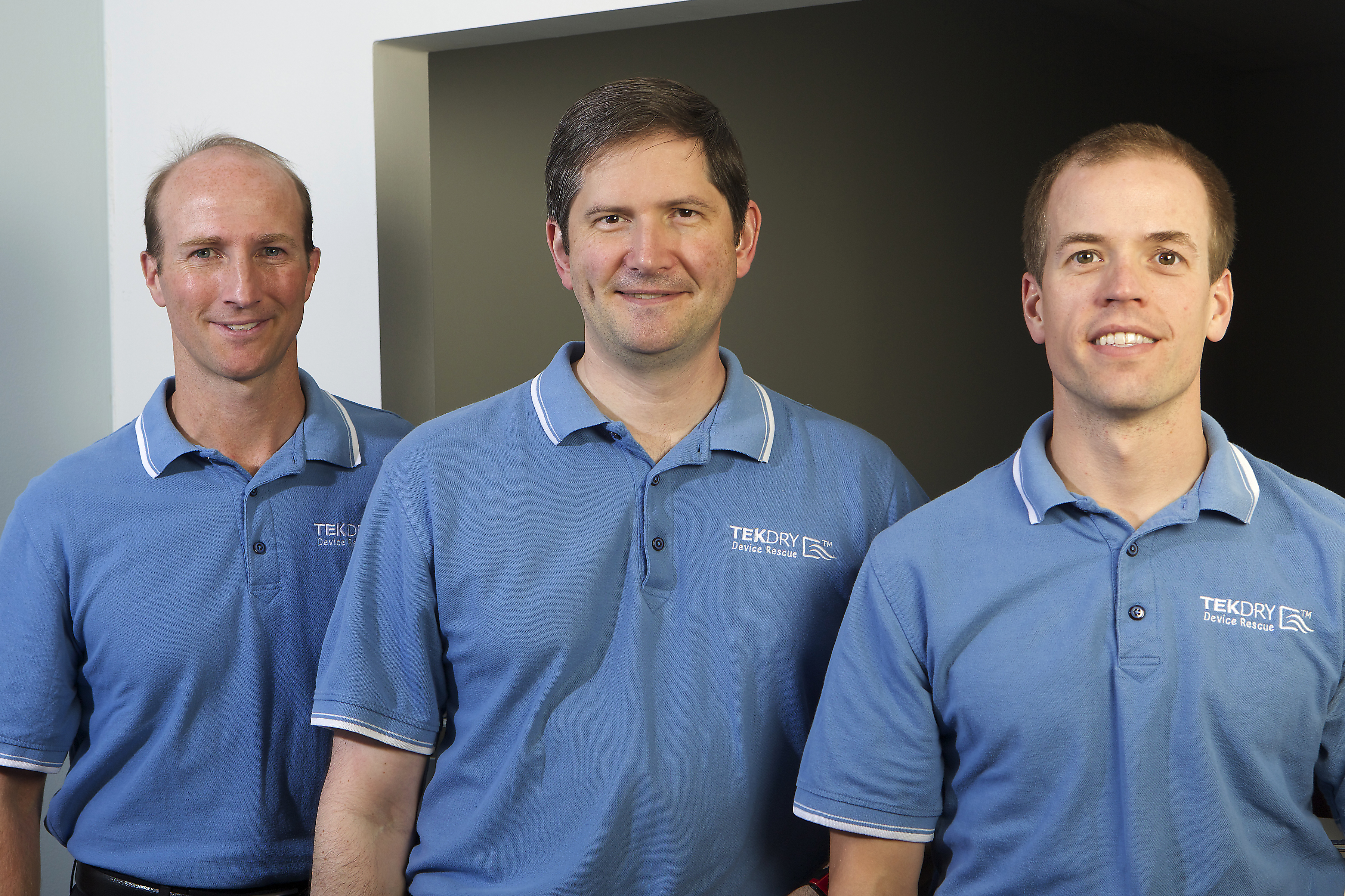 TekDry founders Craig Beinecke (left), Adam Cookson (center), Eric Jones (right) (Photo: Business Wire)